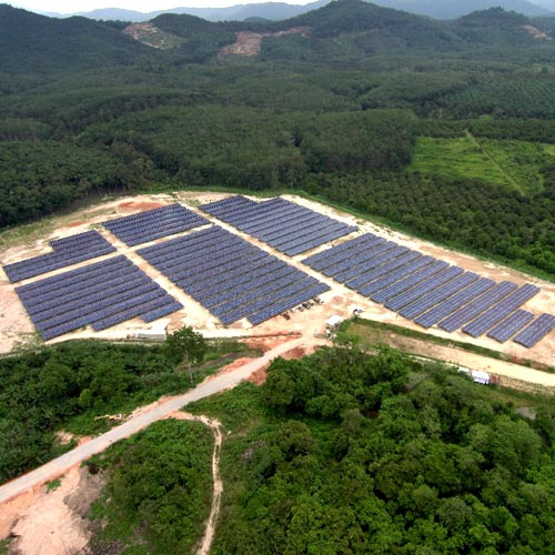 15,9 mW Bodenmontageprojekt in 2018 in Malaysia